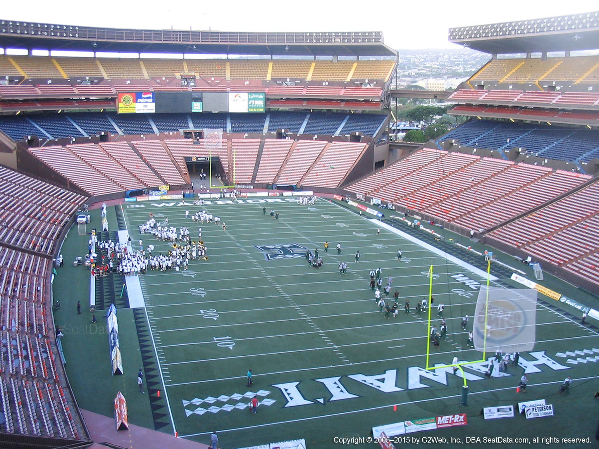 Seat View for Aloha Stadium Red C