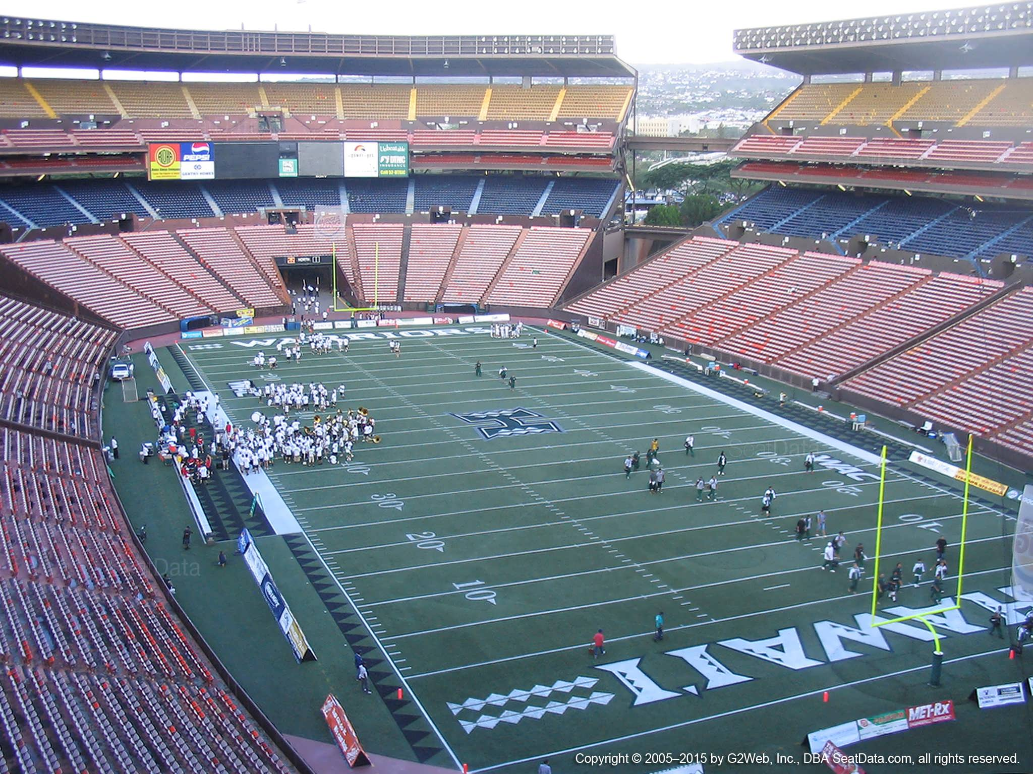Seat View for Aloha Stadium Red D