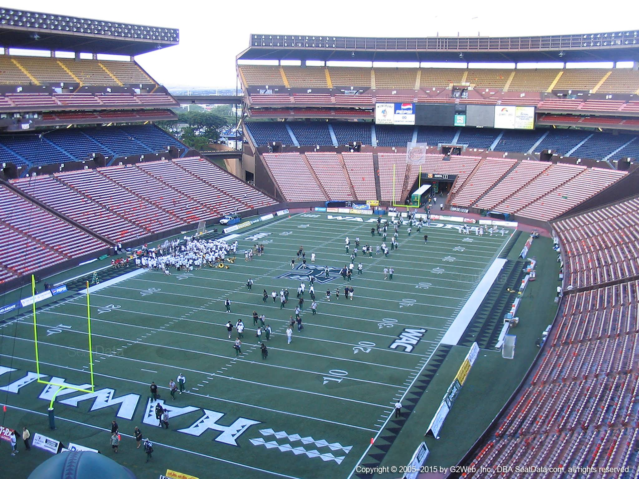 Seat View for Aloha Stadium Red DD
