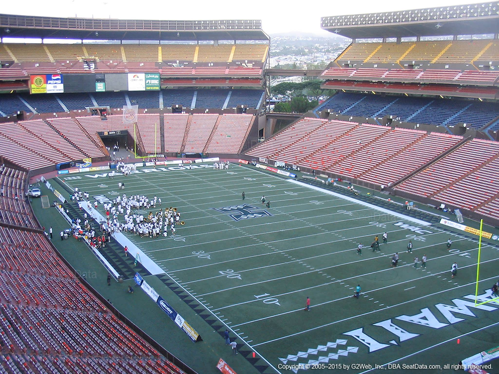 Seat View for Aloha Stadium Red E