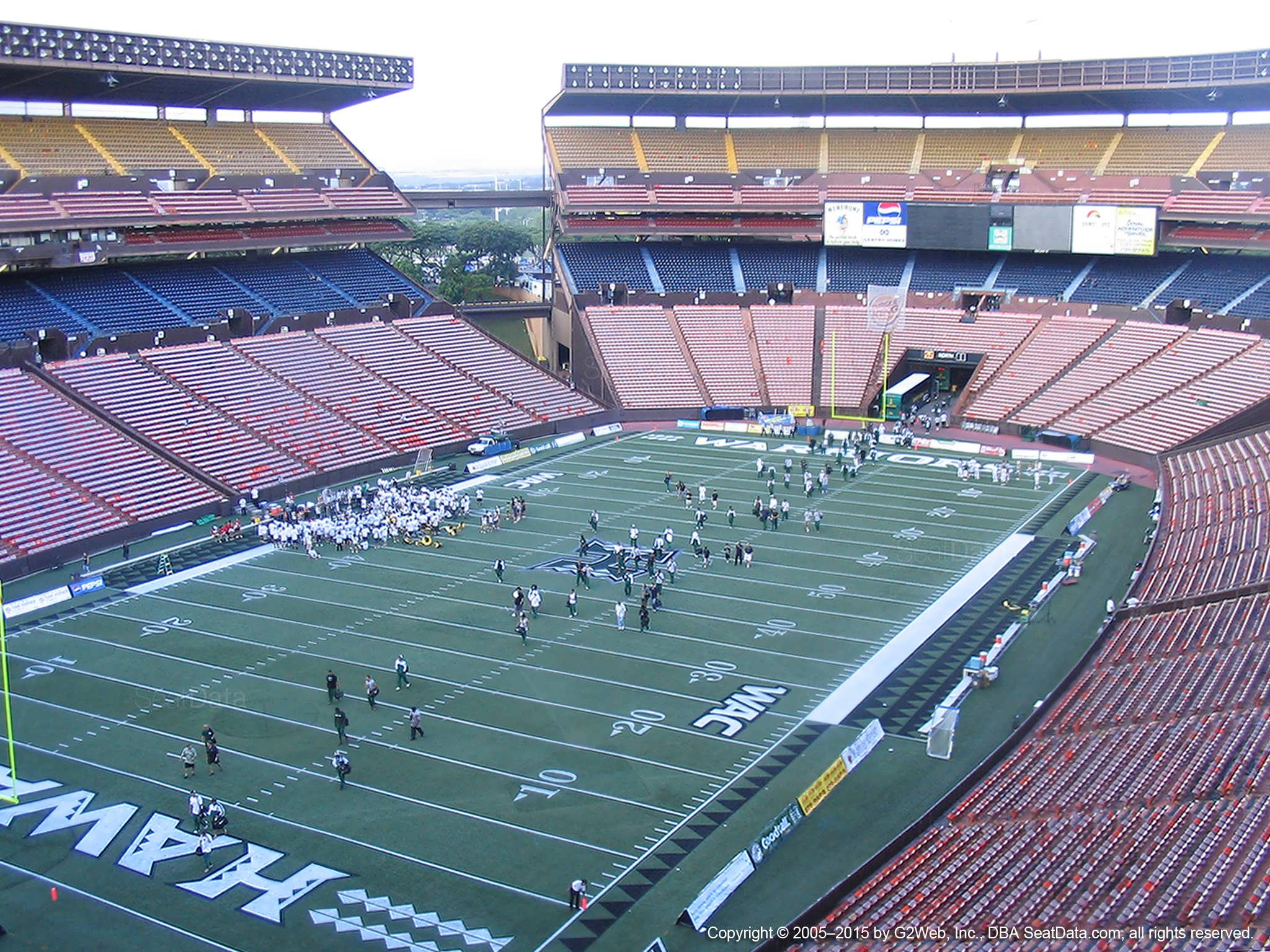 Seat View for Aloha Stadium Red EE