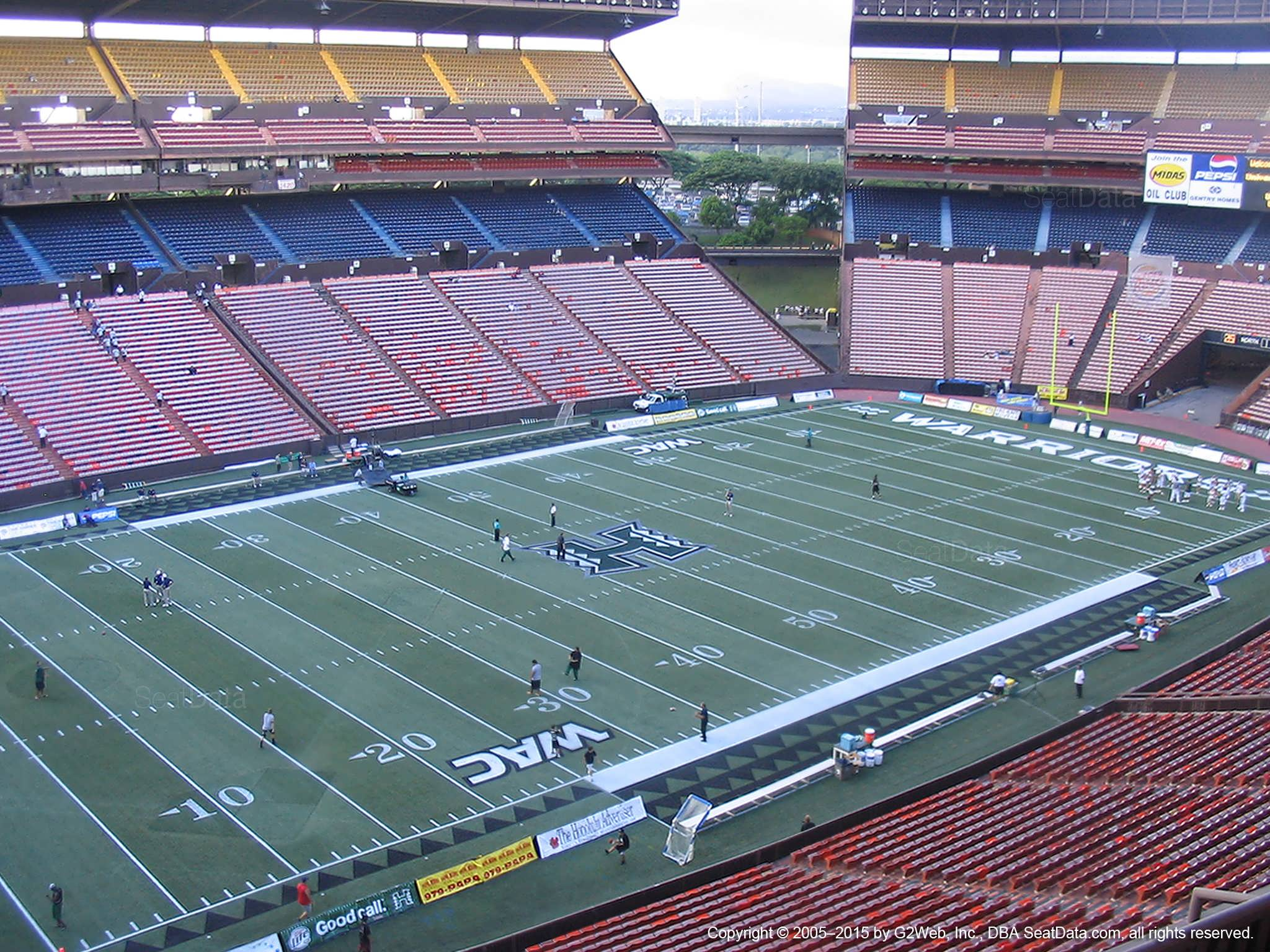 Seat View for Aloha Stadium Red FF