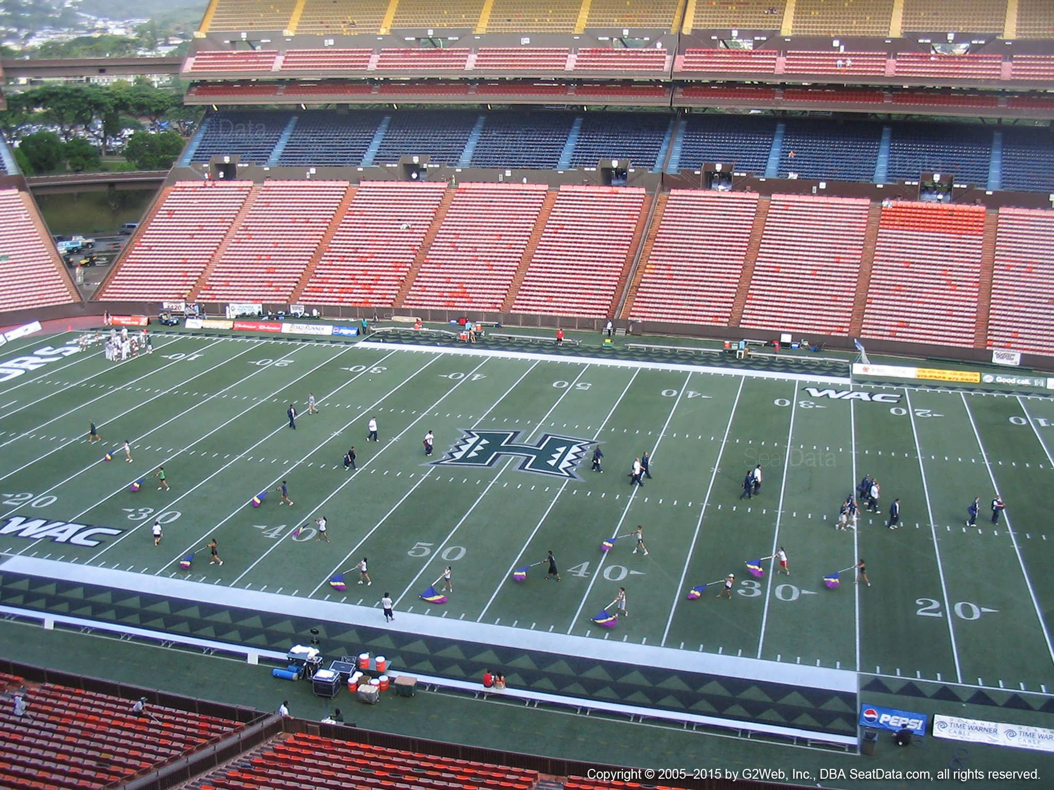 Seat View for Aloha Stadium Red J