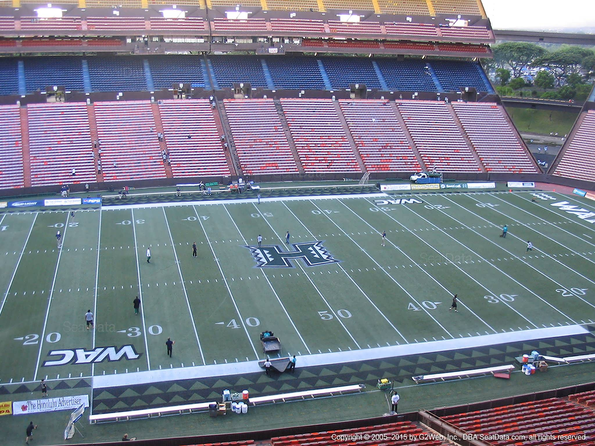 Seat View for Aloha Stadium Red JJ