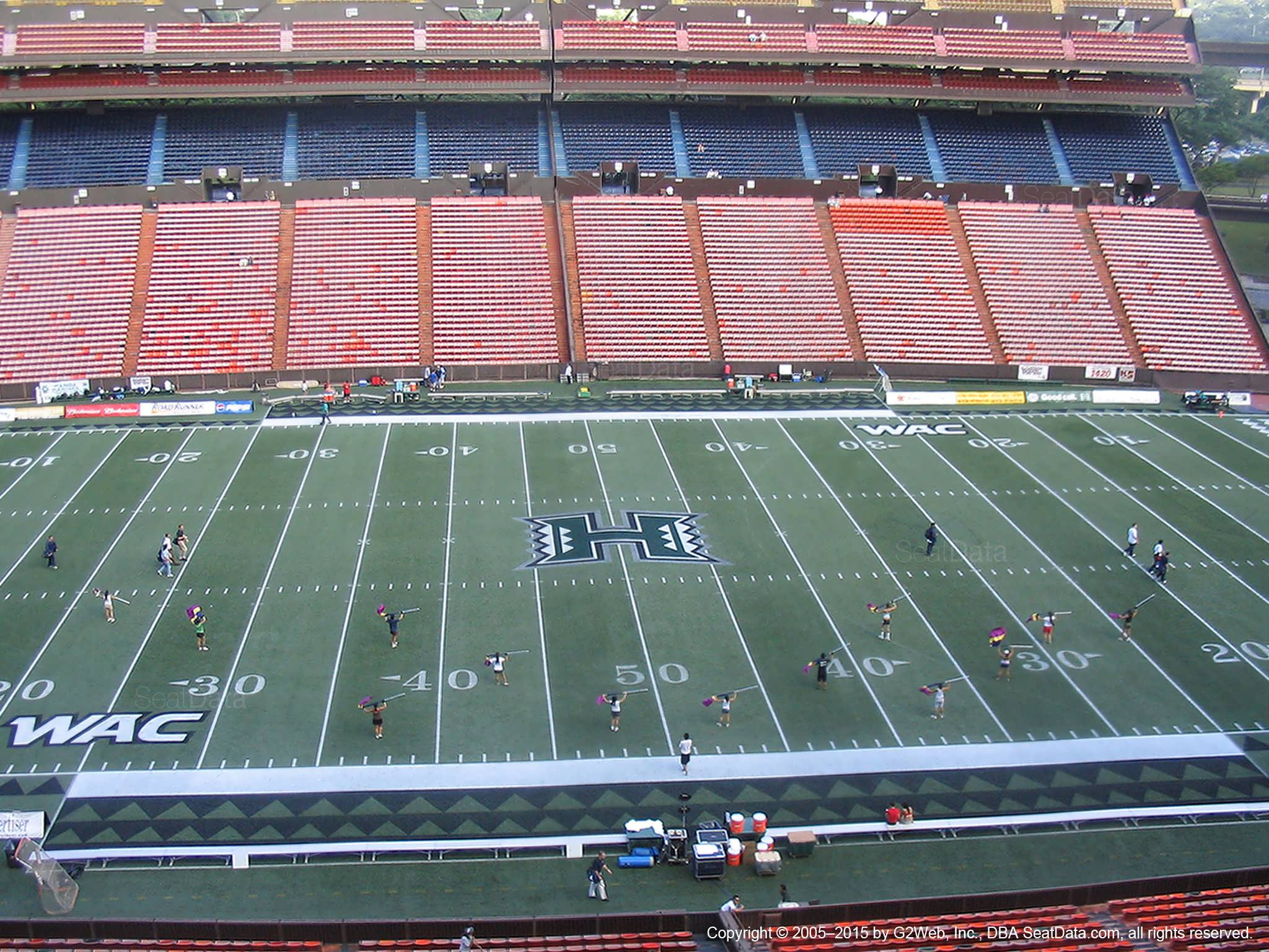 Seat View for Aloha Stadium Red L