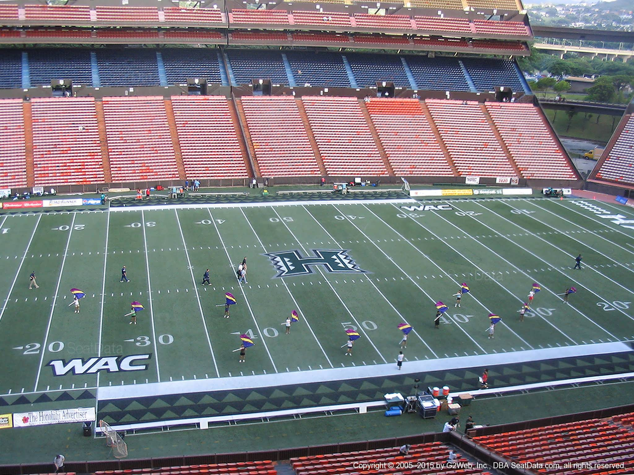 Seat View for Aloha Stadium Red M