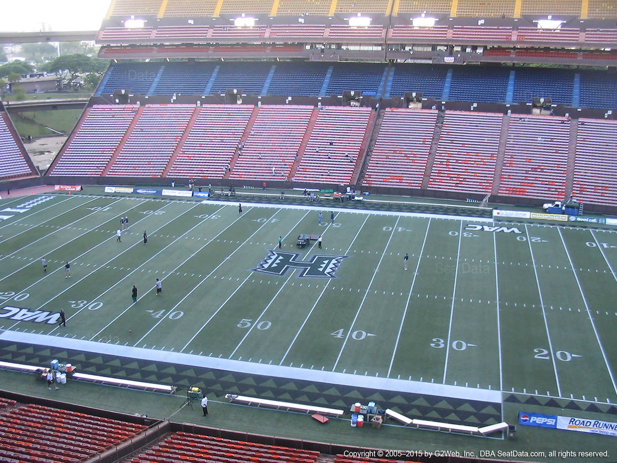 Seat View for Aloha Stadium Red MM