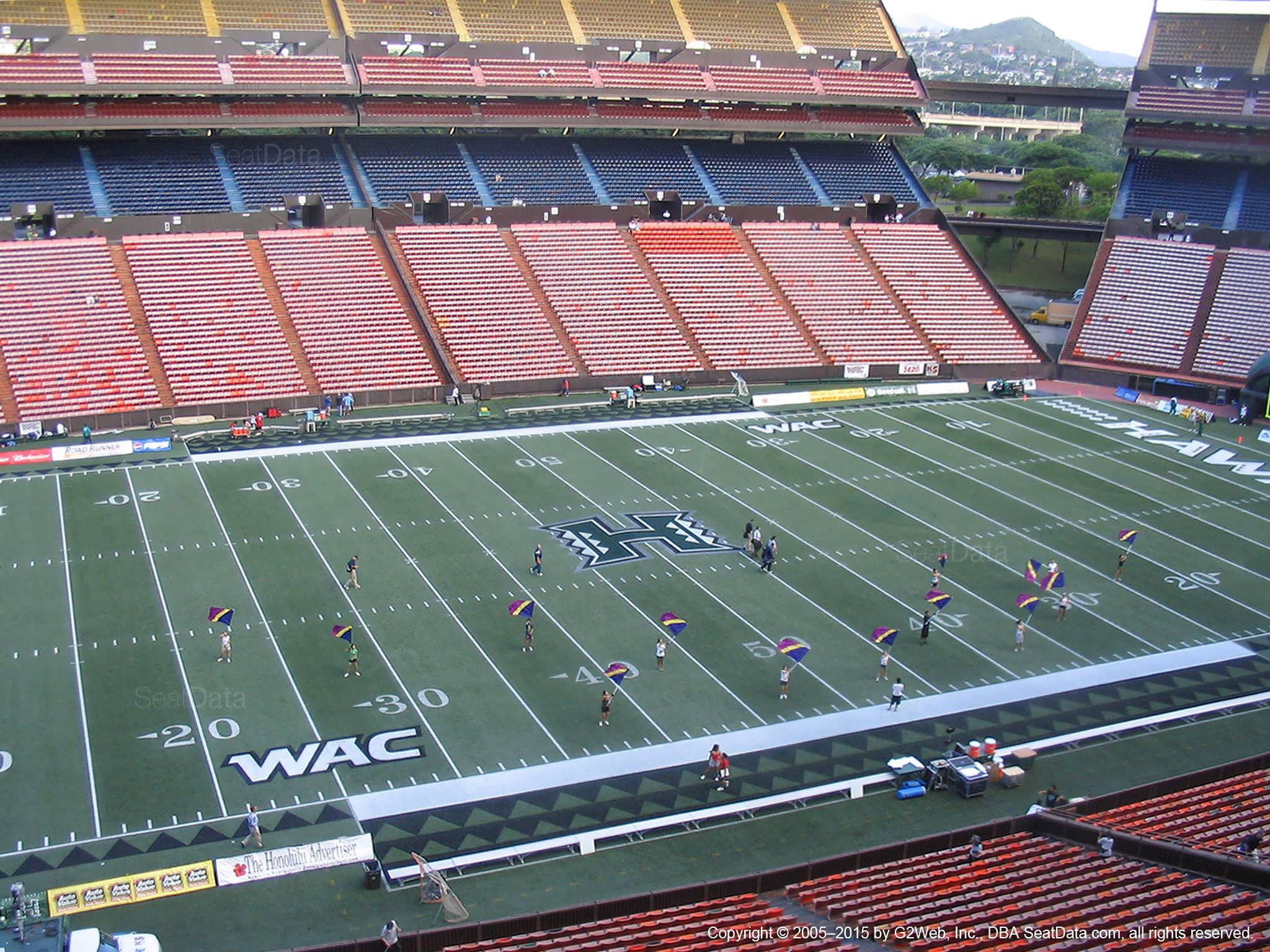 Seat View for Aloha Stadium Red N