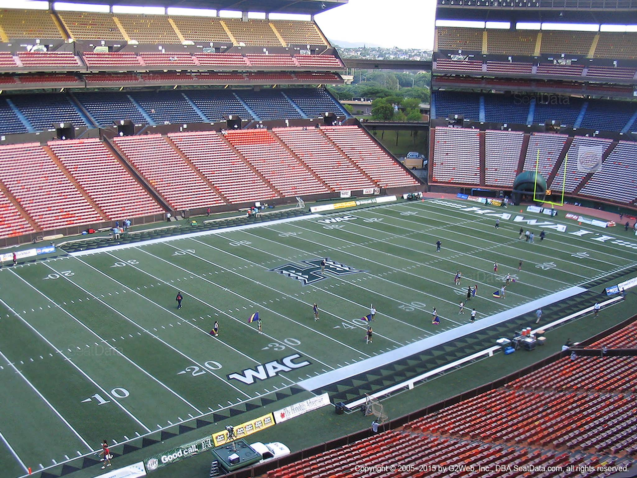 Seat View for Aloha Stadium Red Q