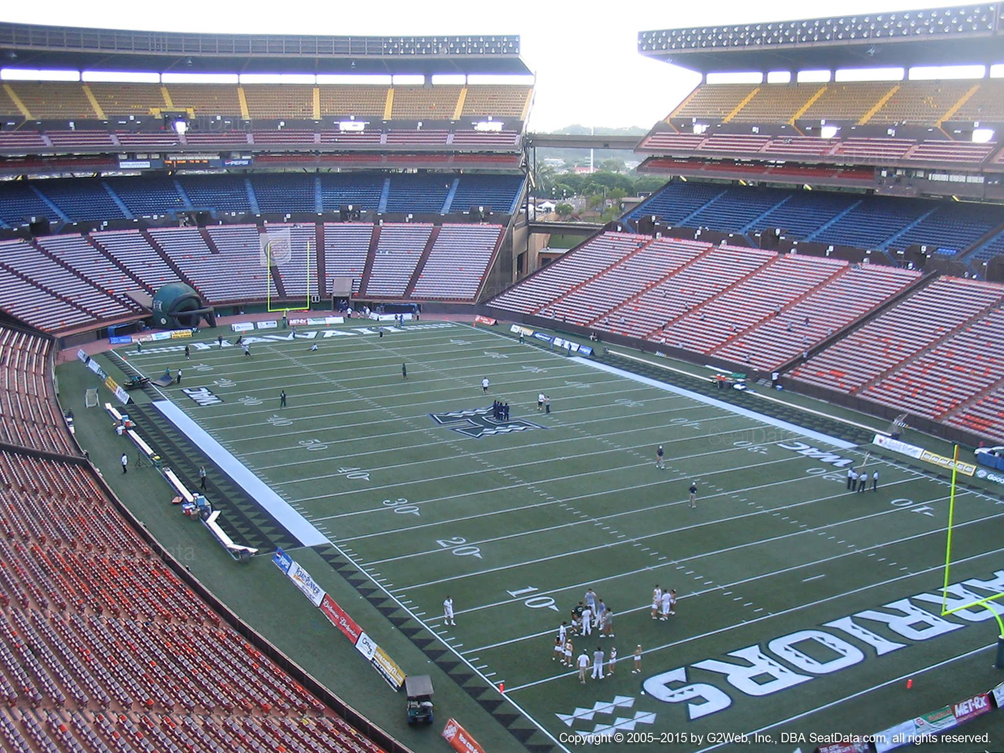 Seat View for Aloha Stadium Red RR