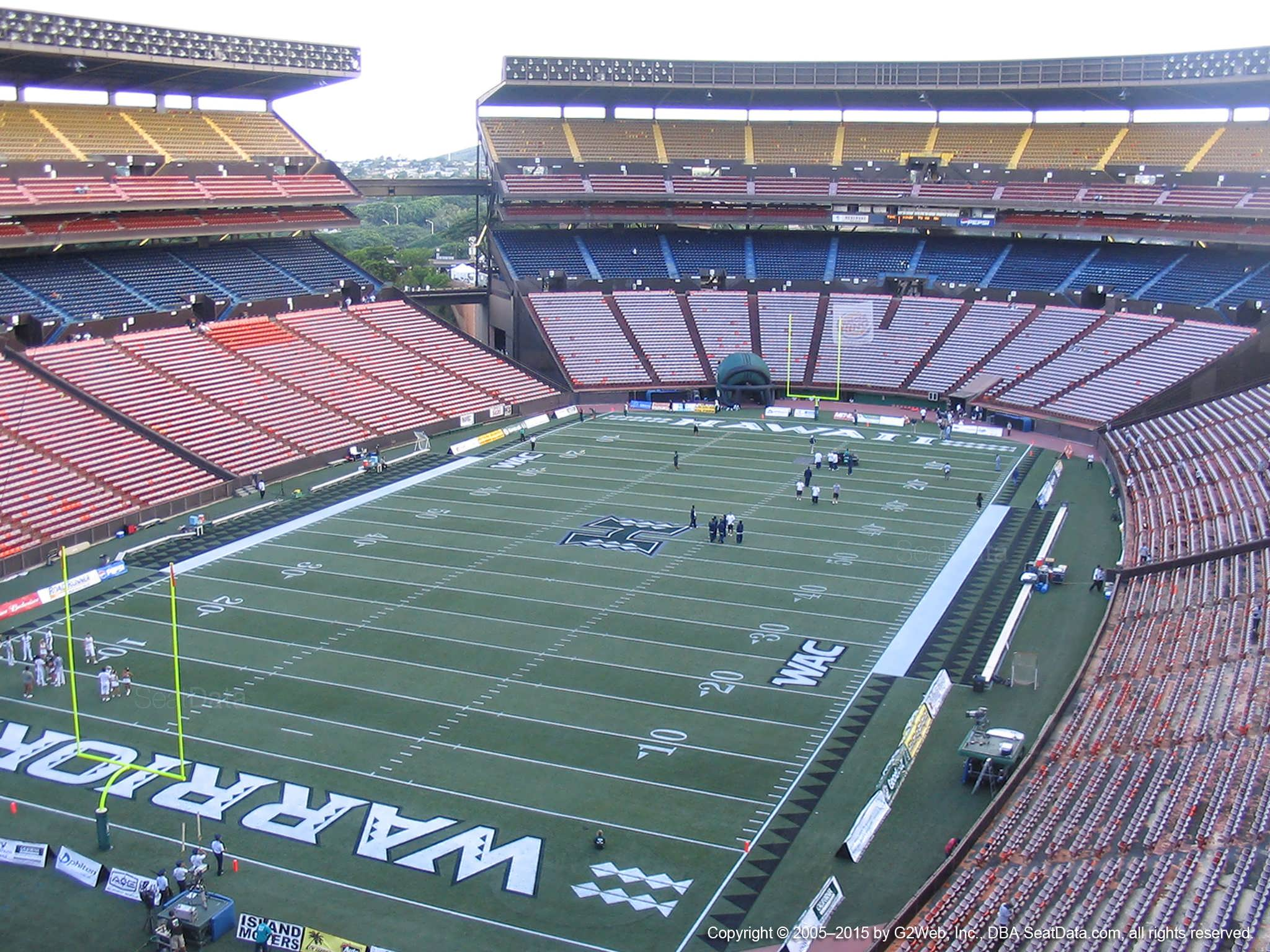 Seat View for Aloha Stadium Red S