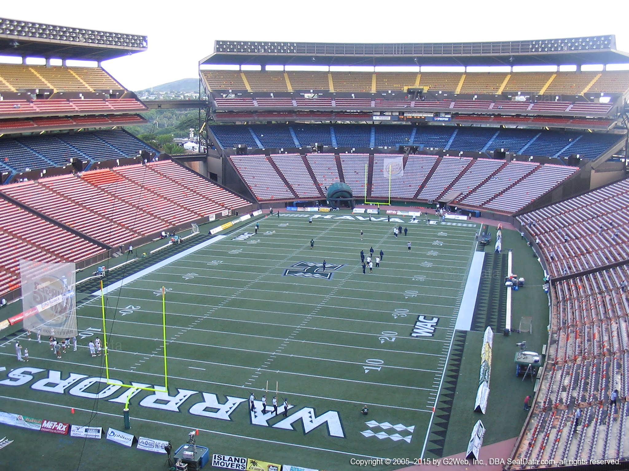 Seat View for Aloha Stadium Red T