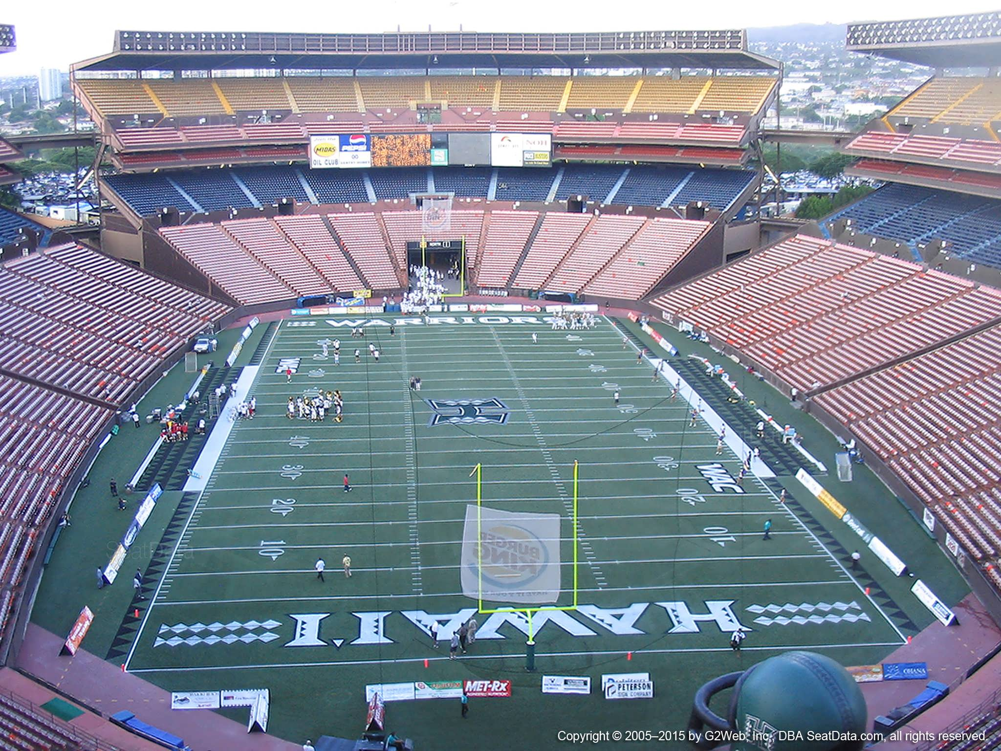 Seat View for Aloha Stadium Yellow A