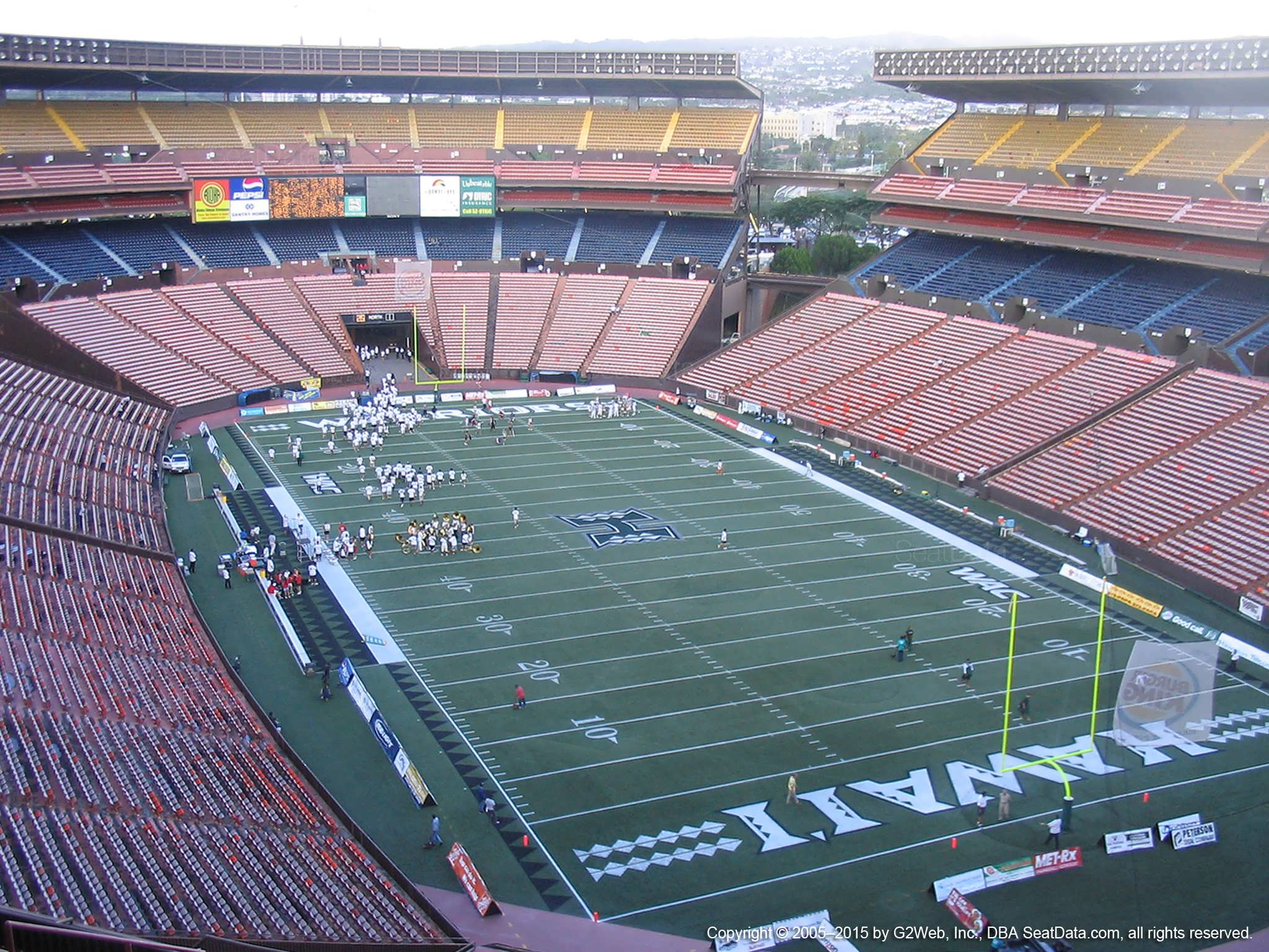 Seat View for Aloha Stadium Yellow D