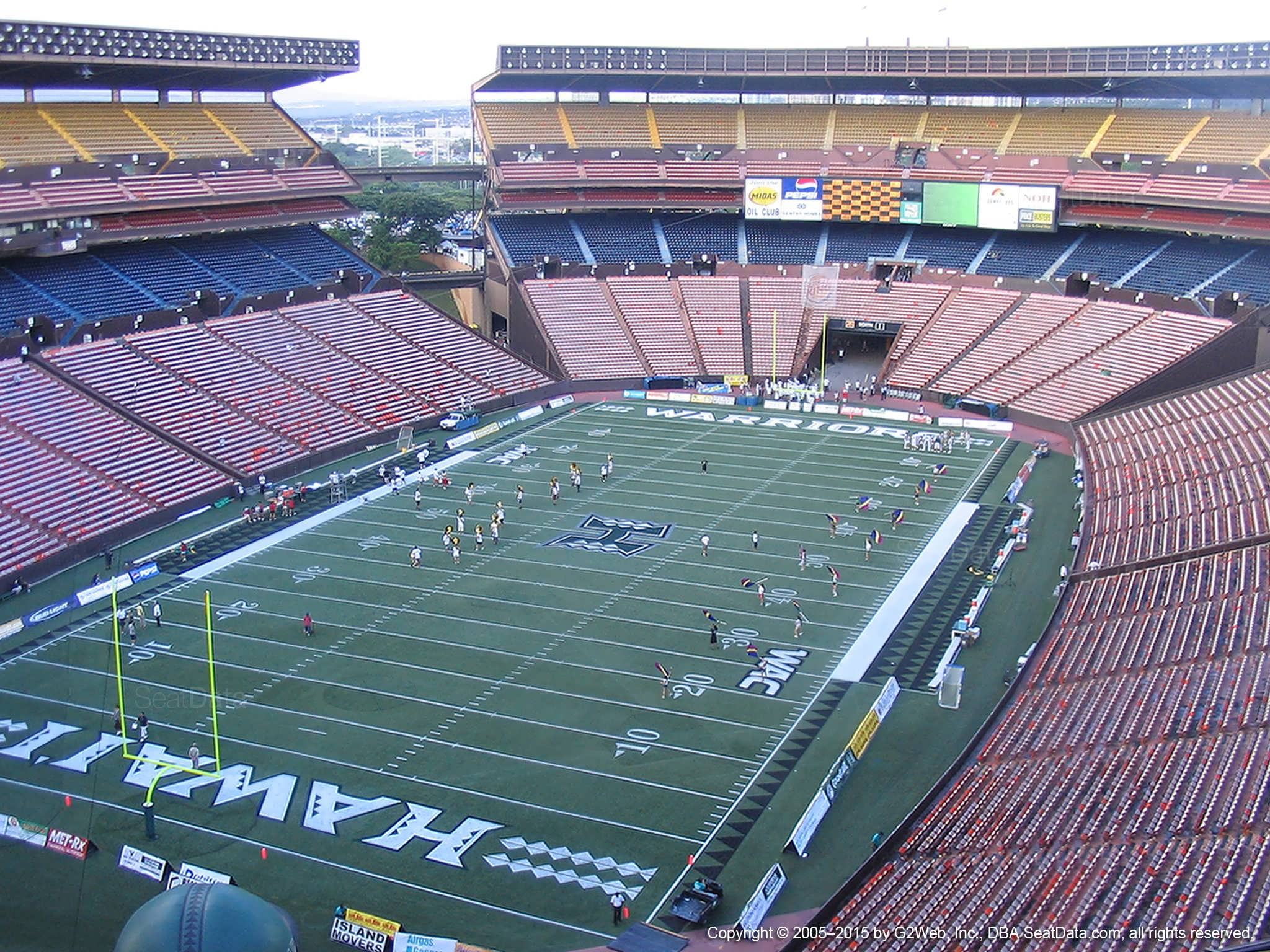 Seat View for Aloha Stadium Yellow DD