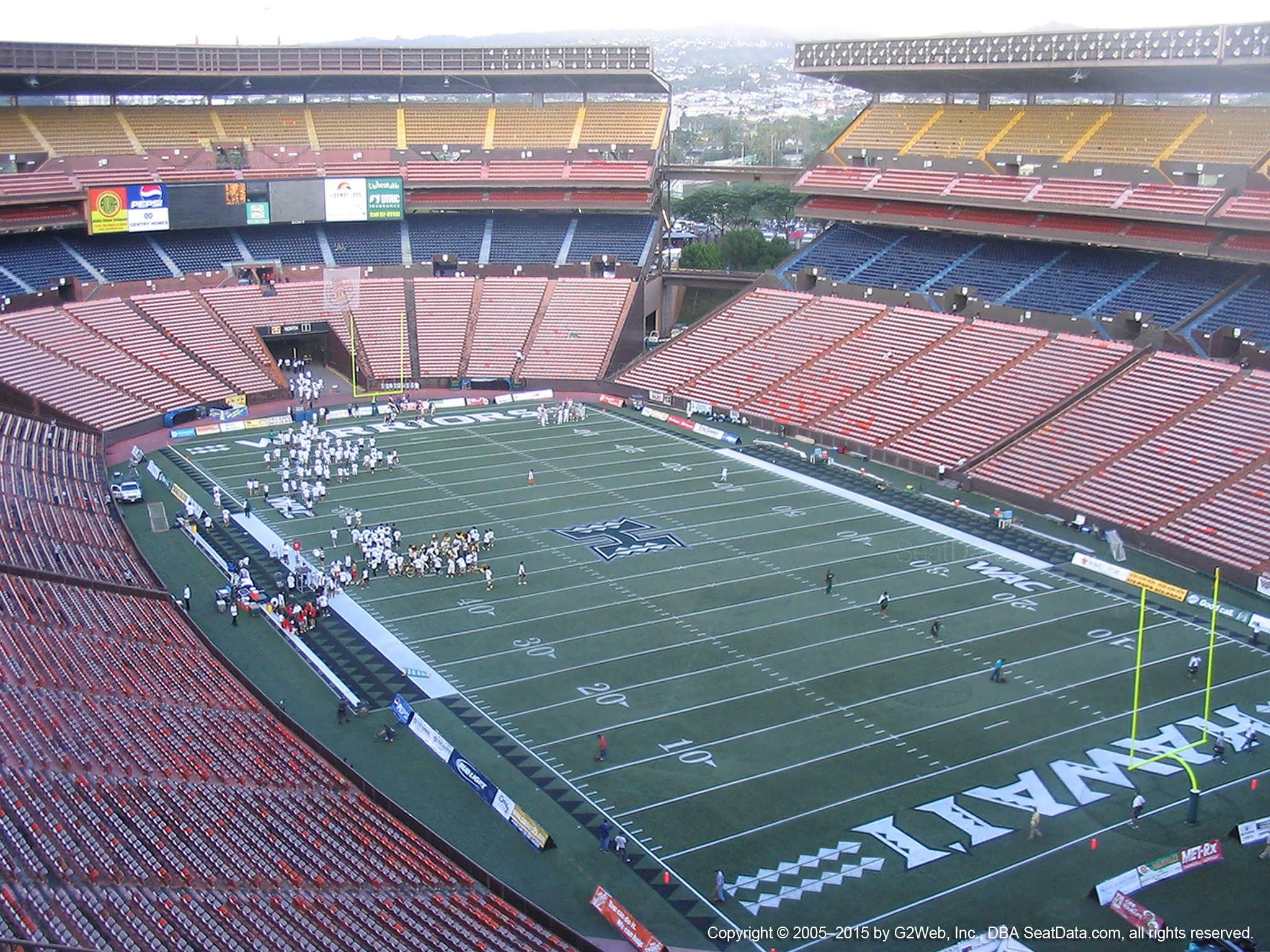 Aloha Stadium Yellow E - RateYourSeats.com