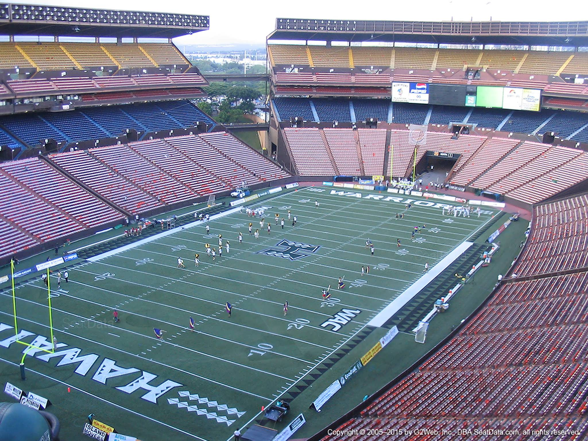 Seat View for Aloha Stadium Yellow EE