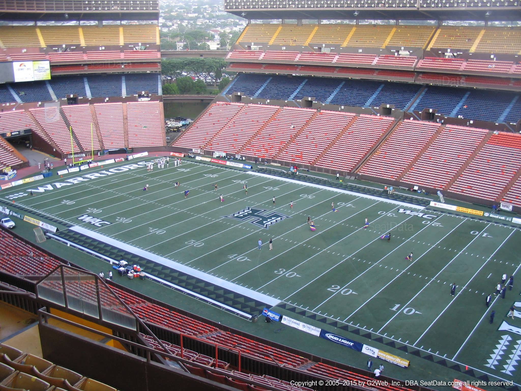Seat View for Aloha Stadium Yellow F