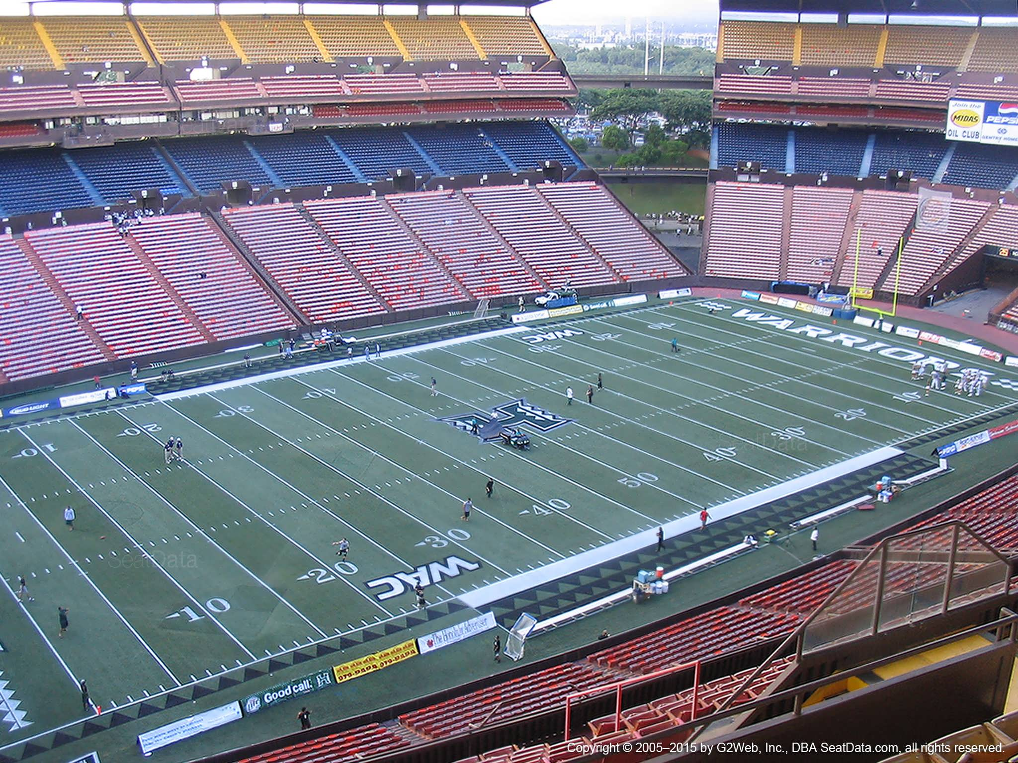 Seat View for Aloha Stadium Yellow FF