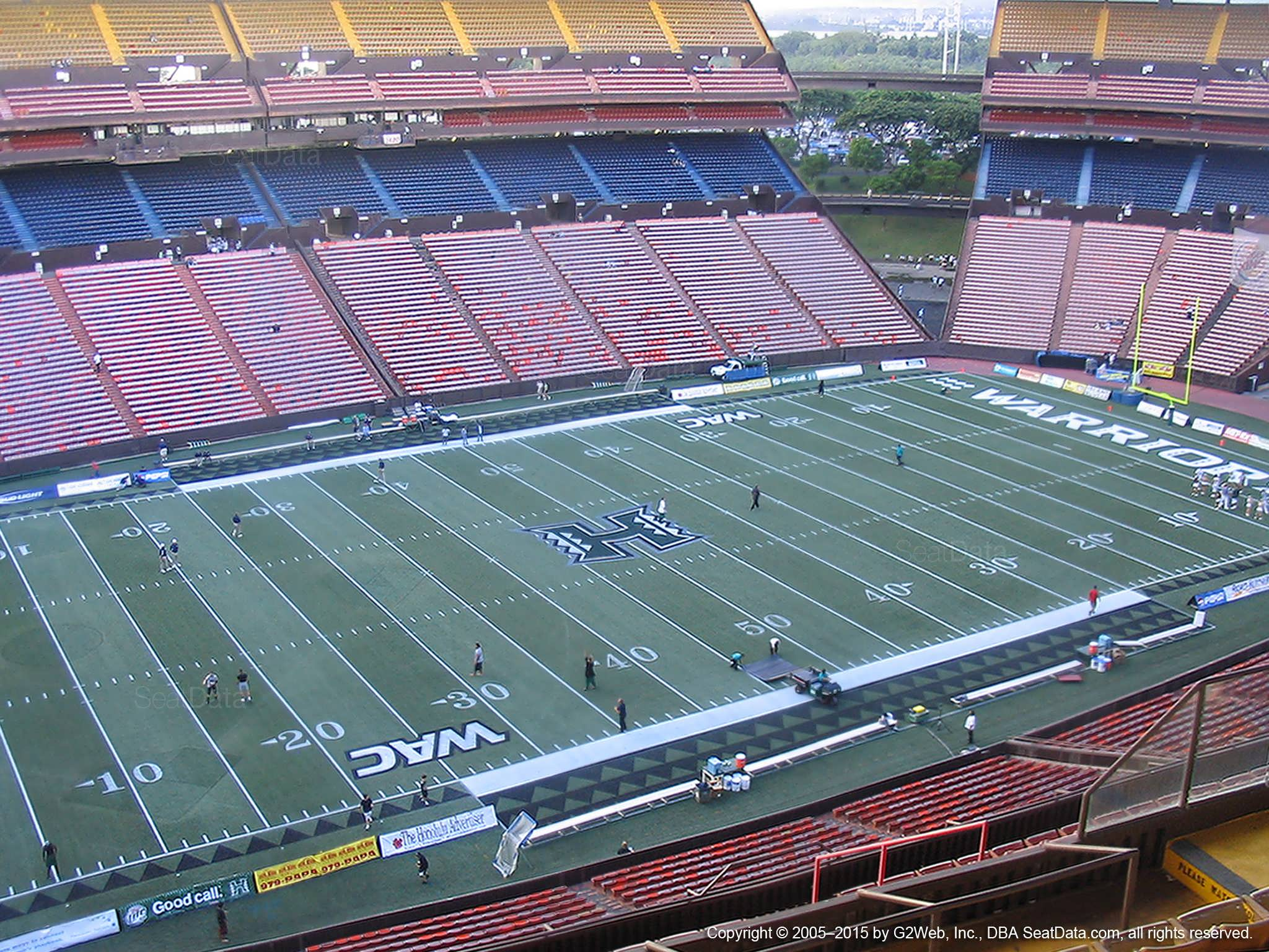 Seat View for Aloha Stadium Yellow GG