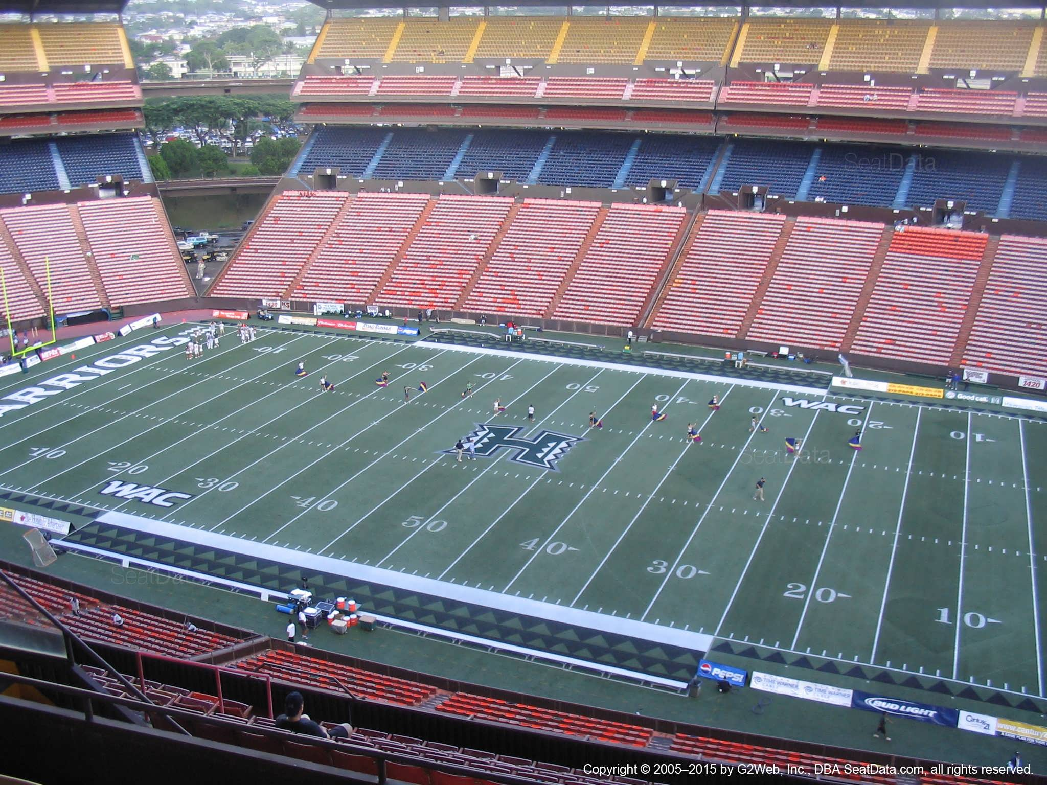 Aloha Stadium Yellow H - RateYourSeats com