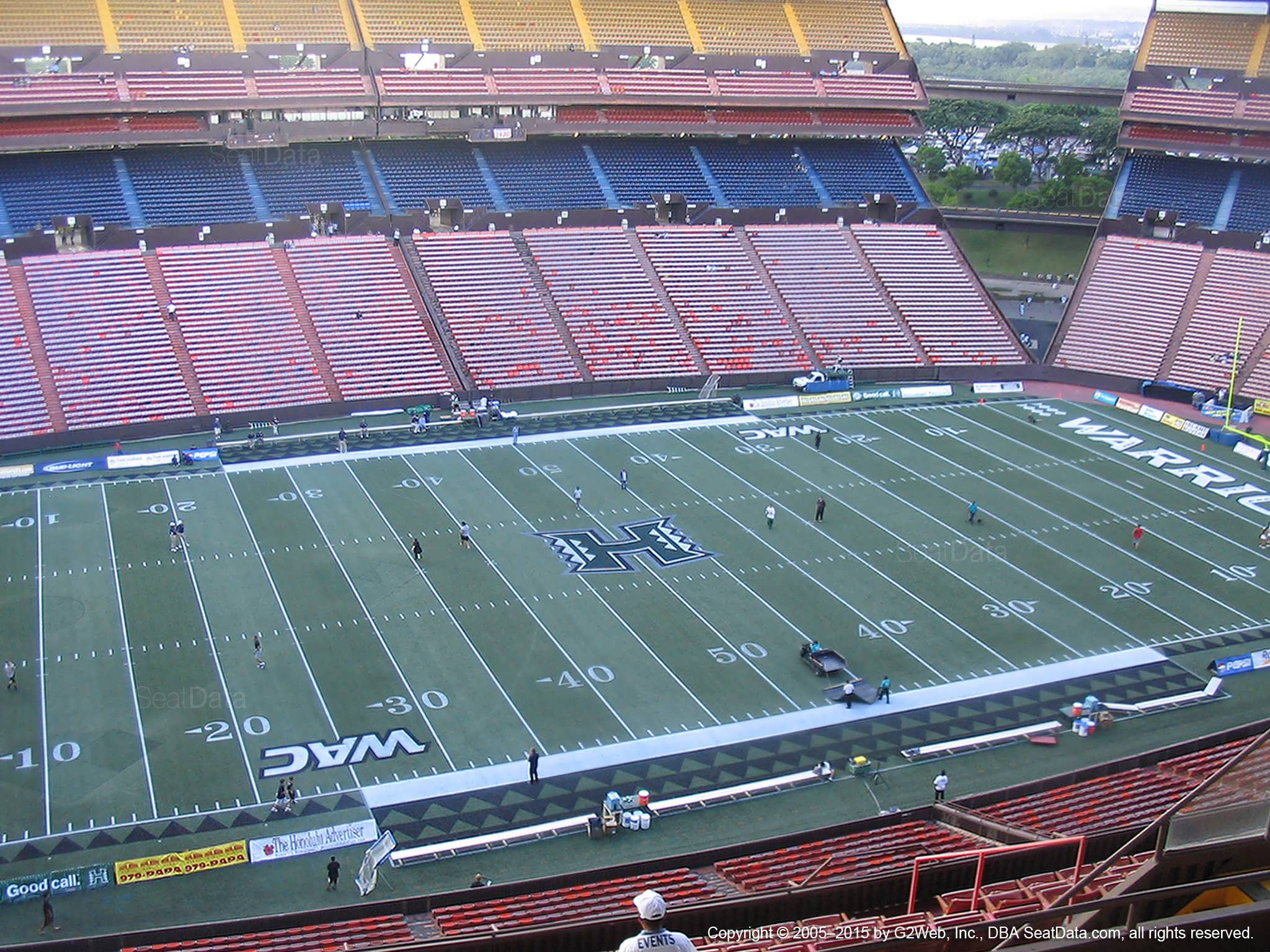 Seat View for Aloha Stadium Yellow HH
