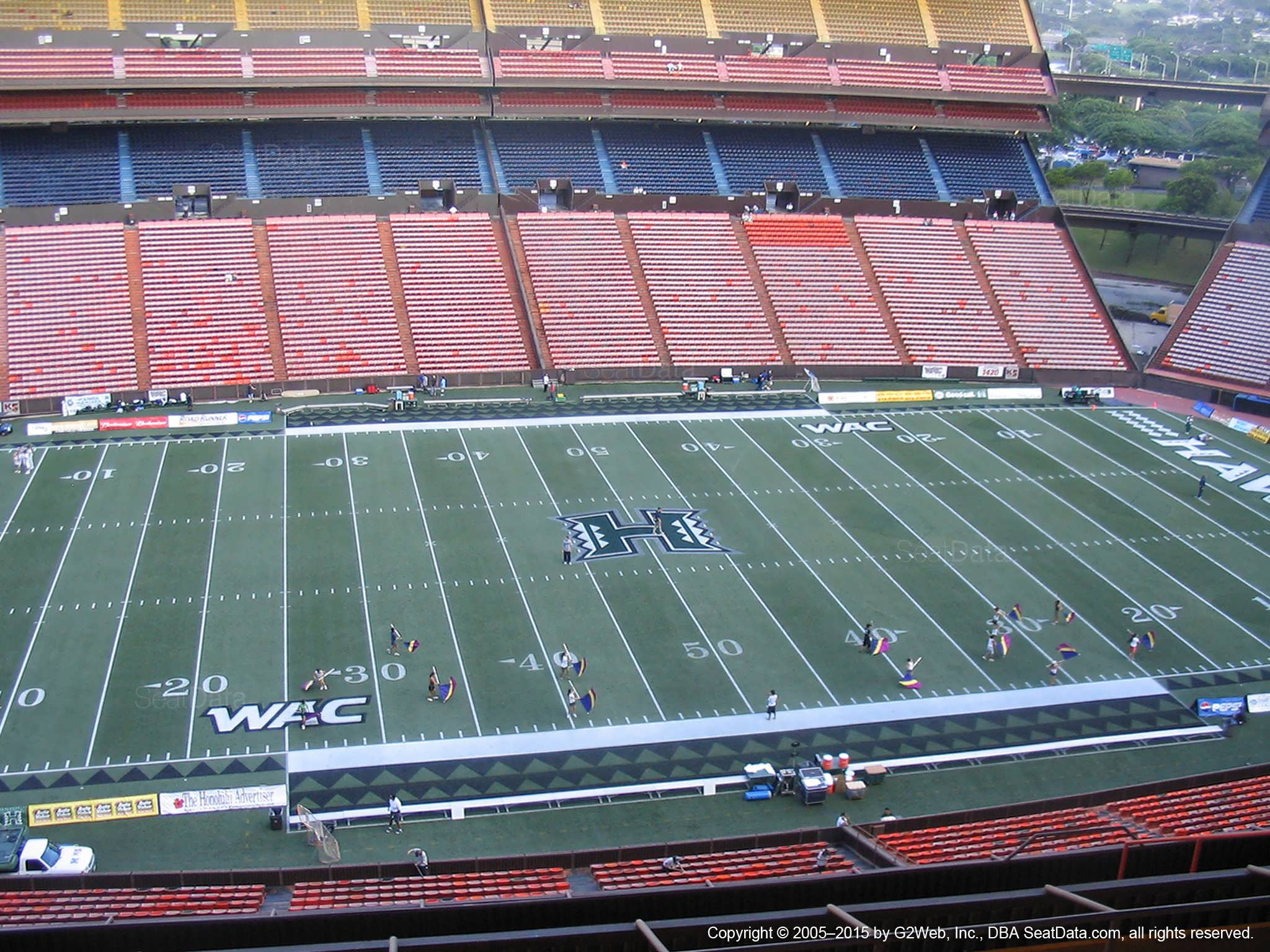 Seat View for Aloha Stadium Yellow M