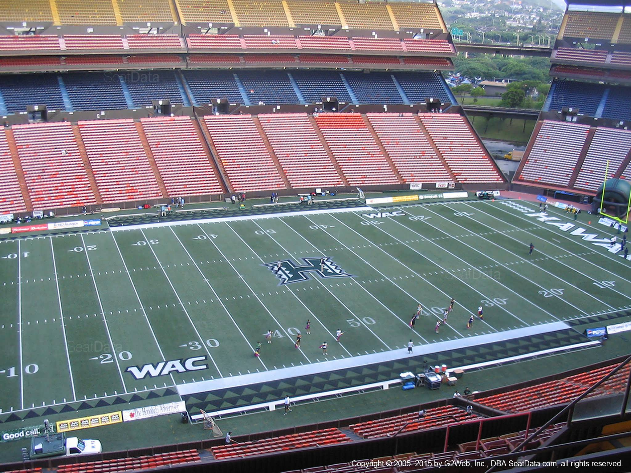 Seat View for Aloha Stadium Yellow N