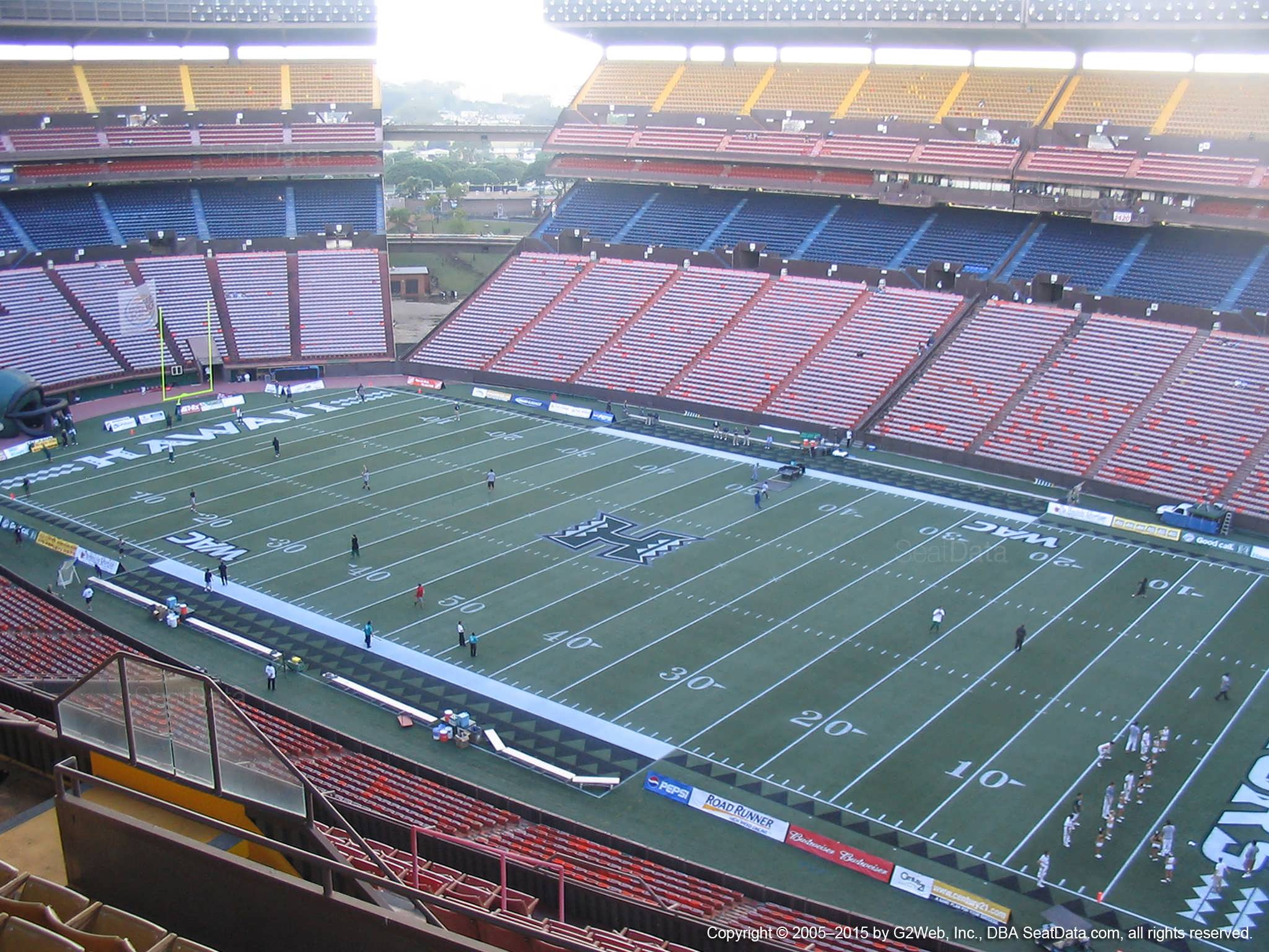 Aloha Stadium Yellow QQ - RateYourSeats.com