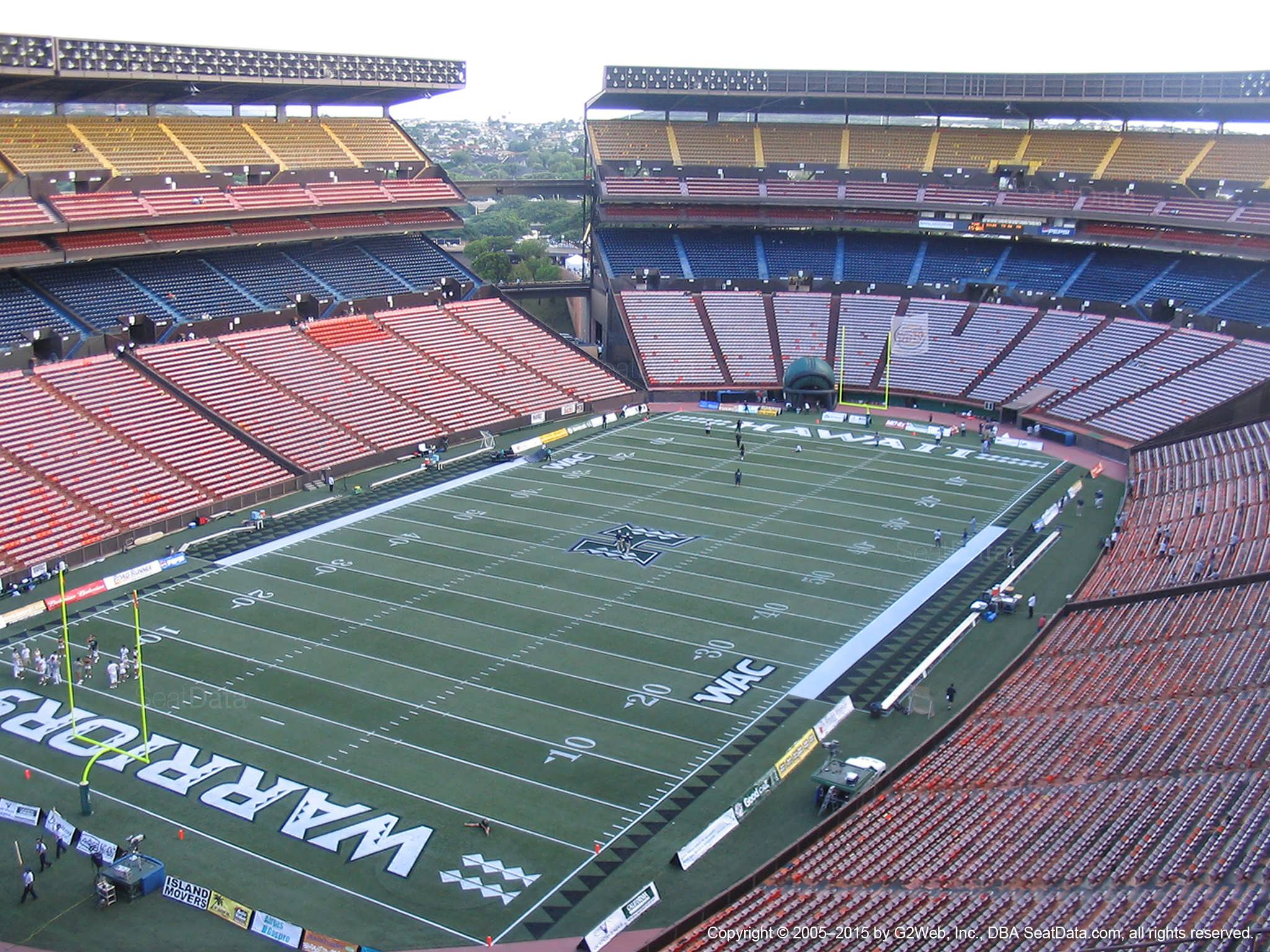 Seat View for Aloha Stadium Yellow R