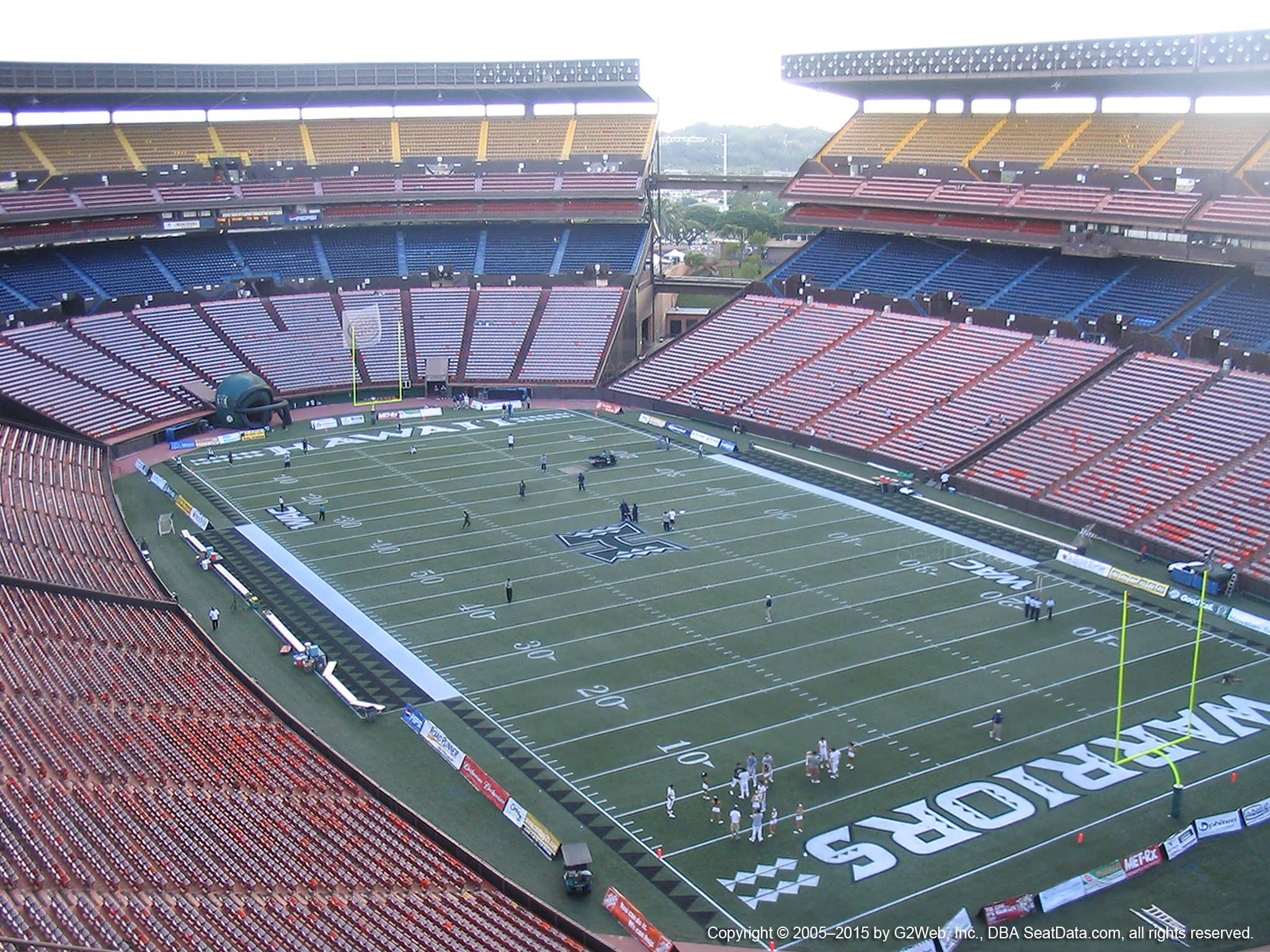 Seat View for Aloha Stadium Yellow RR