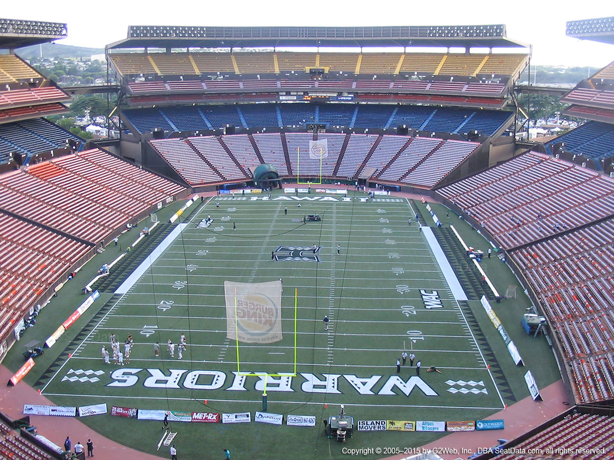 Seat View for Aloha Stadium Yellow V