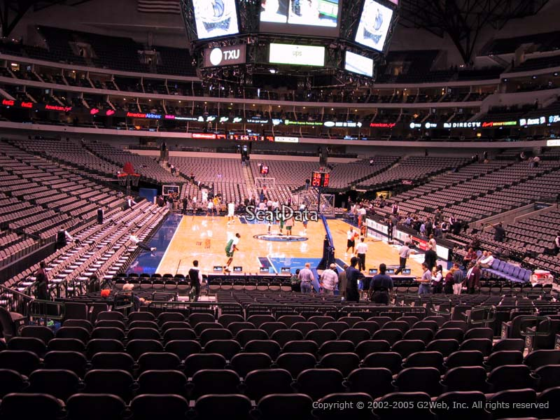 Dallas Mavericks American Airlines Center Section 101