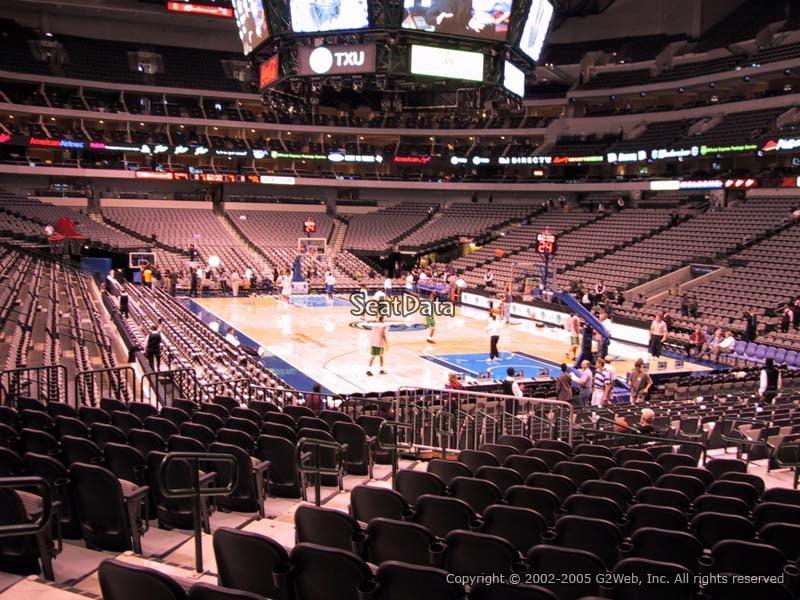 Dallas Mavericks American Airlines Center Section 102