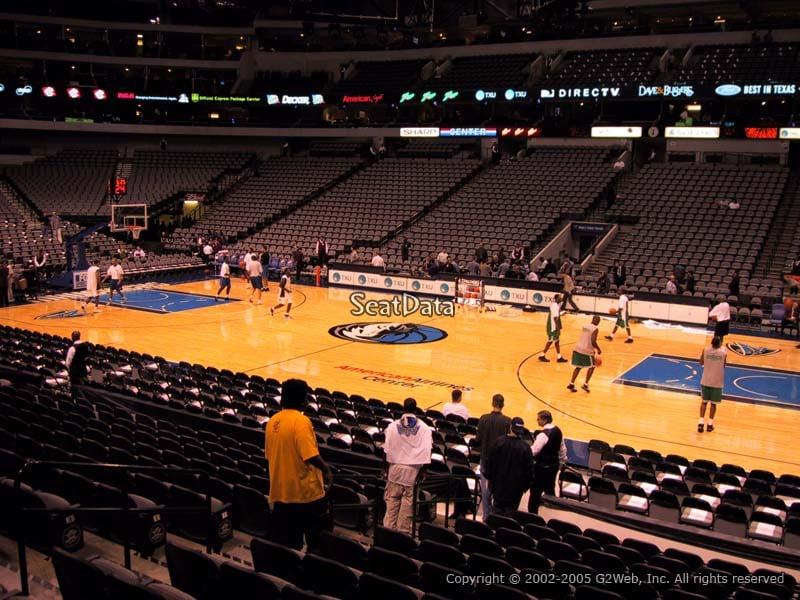 Dallas Mavericks American Airlines Center Section 105