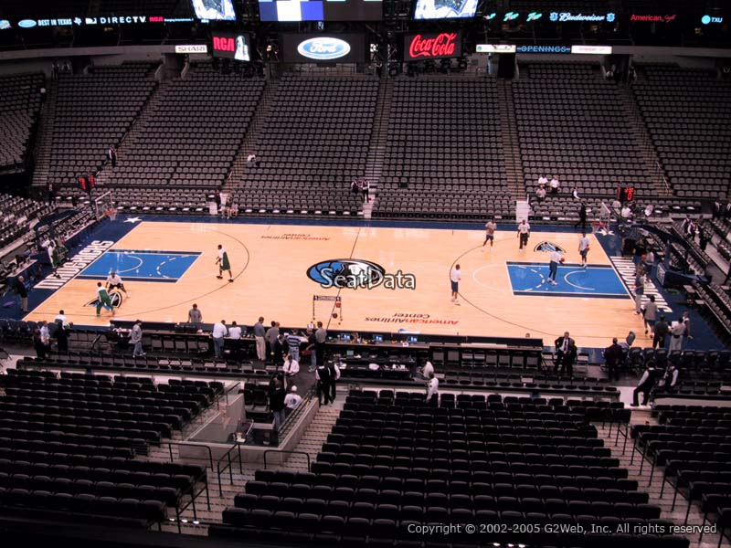 American Airlines Center Section 217 Dallas Mavericks