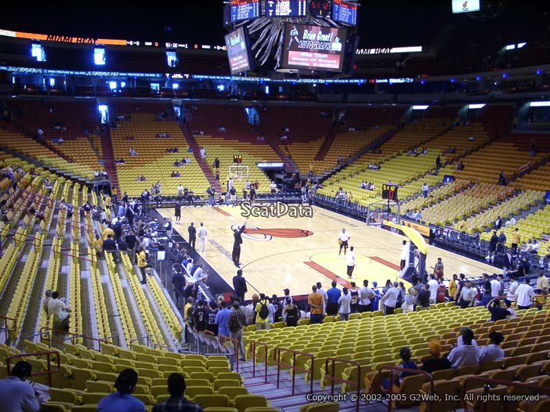 Americanairlines Arena Section 102 Miami Heat