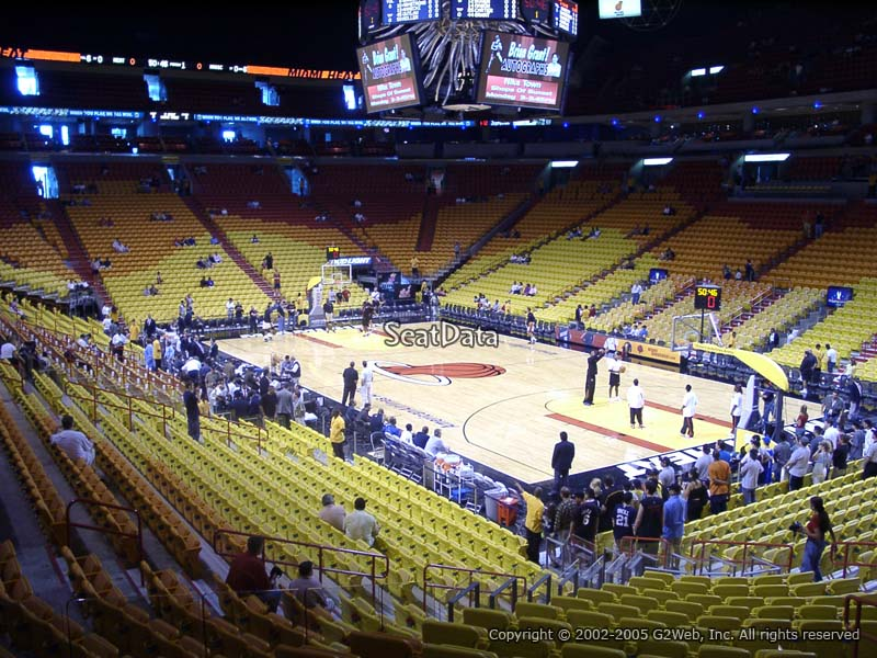 Americanairlines Arena Section 103 Miami Heat