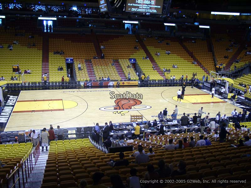 Seat View for AmericanAirlines Arena Section 107