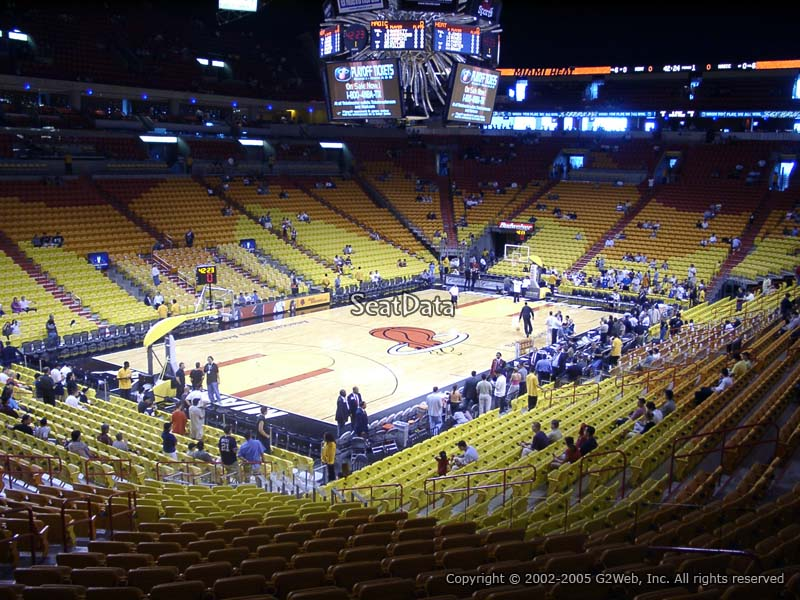Americanairlines Arena Section 110 Miami Heat