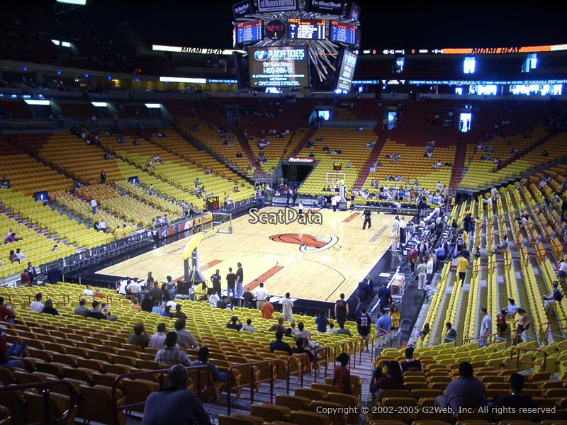 AmericanAirlines Arena Section Miami Heat RateYourSeatscom - American airlines arena seat map