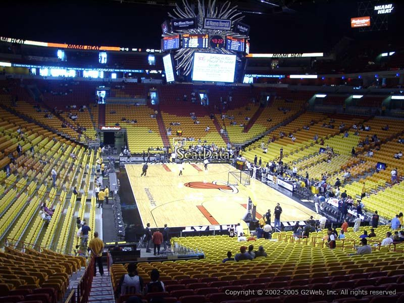americanairlines arena section 114 - miami heat