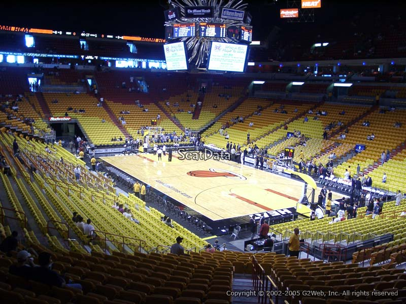 Americanairlines Arena Section 115 Miami Heat