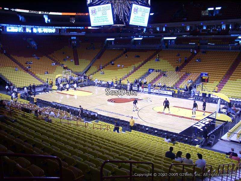 Americanairlines Arena Section 116 Miami Heat