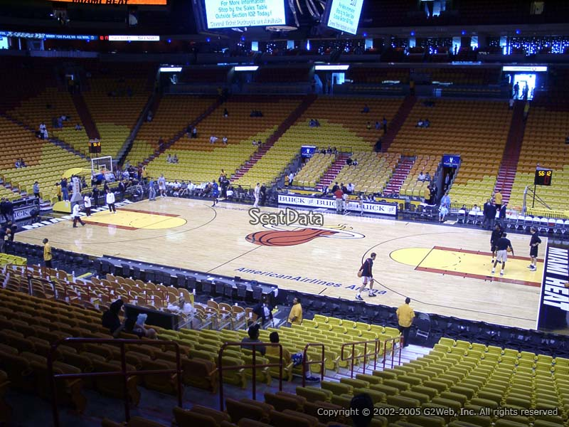 Americanairlines Arena Section 117 Miami Heat