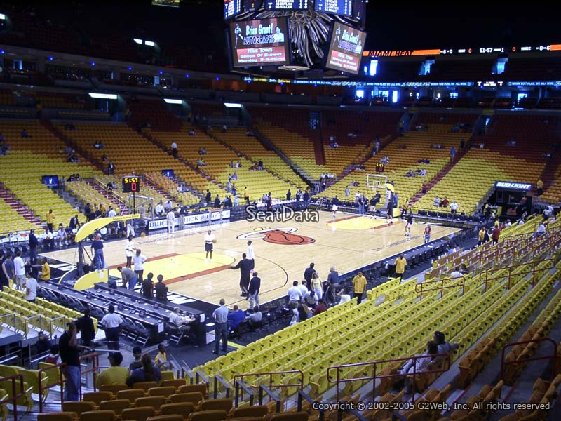 Seat View for AmericanAirlines Arena Section 121