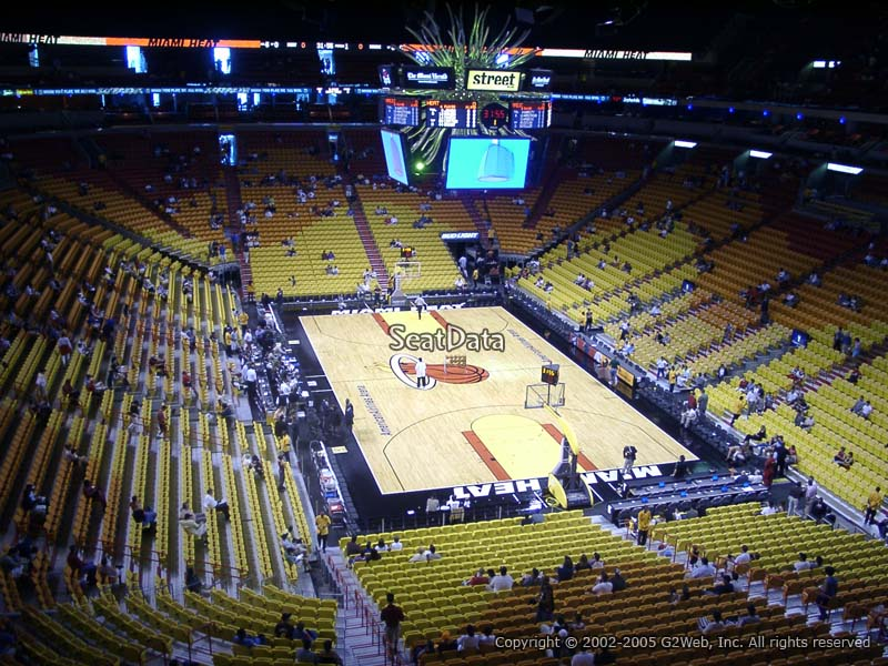 americanairlines arena section 302 - miami heat