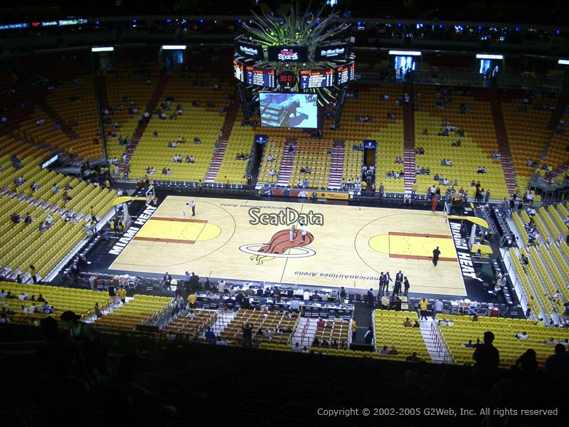 View from Section 308 at American Airlines Arena