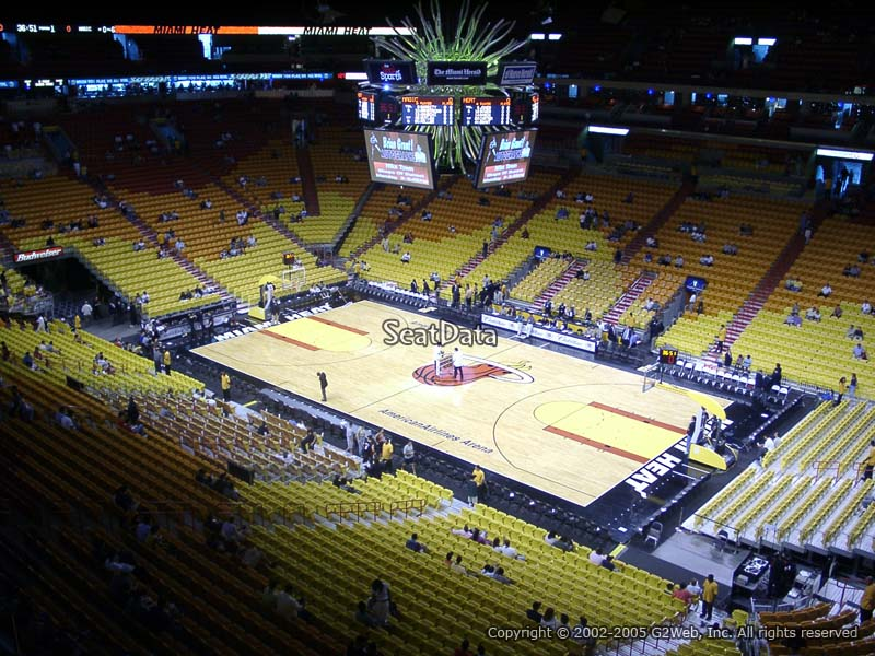 Americanairlines Arena Section 320 Miami Heat