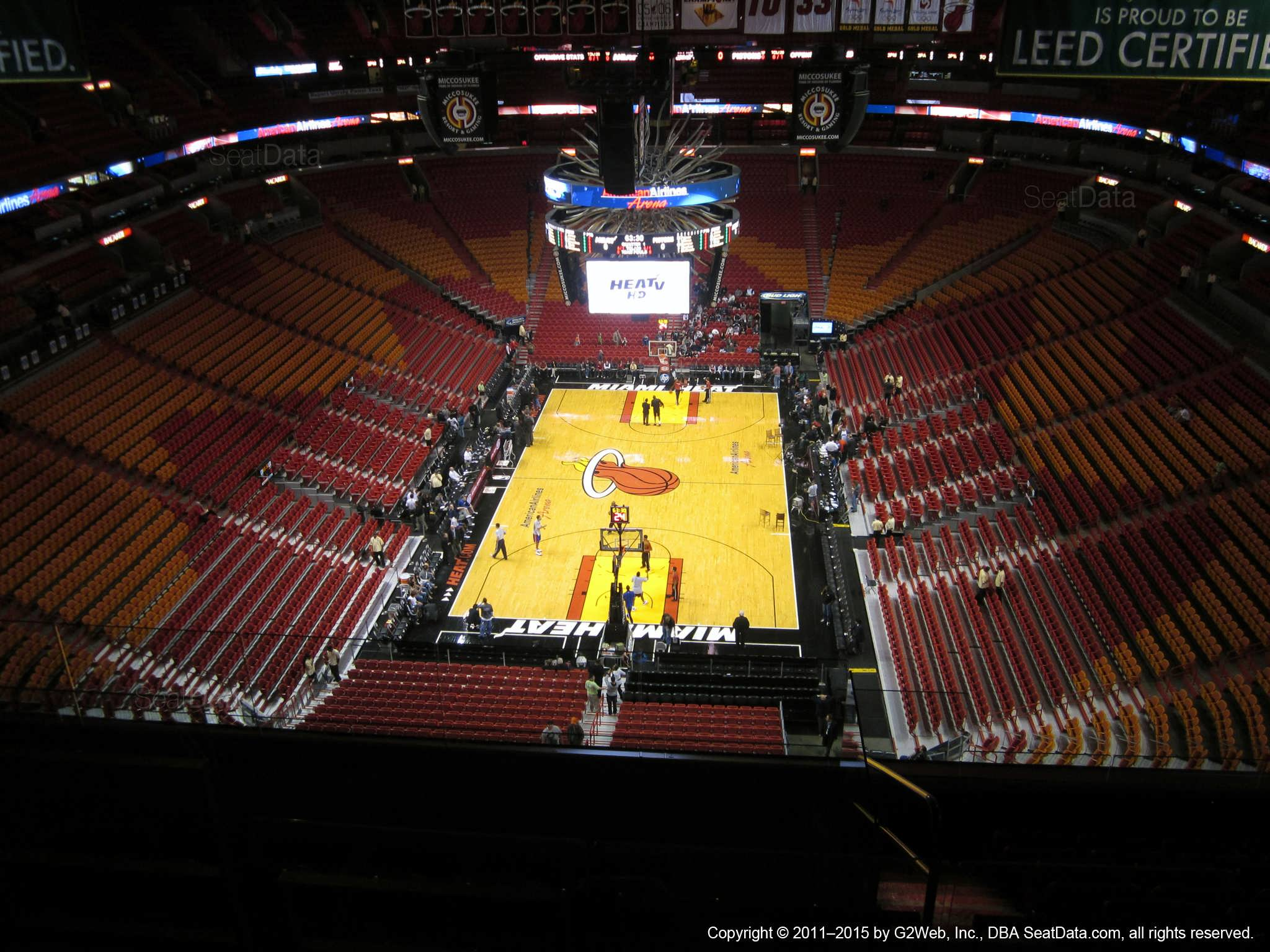 Seat View for AmericanAirlines Arena Section 405